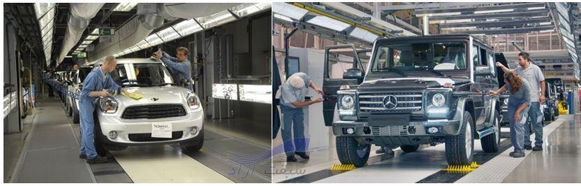 خط تولید خودروسازی مگنا استیر