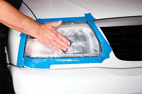 رفع کدری چراغ خودرو