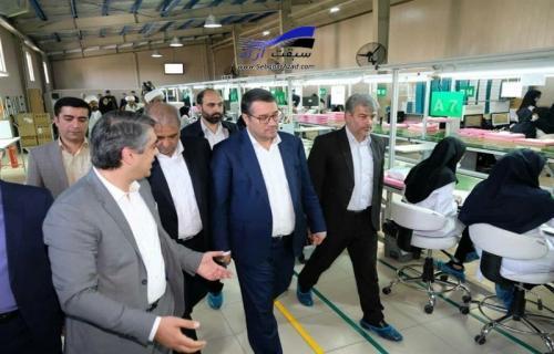 وزیر صنعت از 9 واحد تولیدی بم بازدید کرد