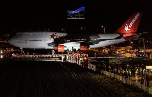 عملیات انتقال بویینگ 747 با کشندههای 1000 اسب بخاری