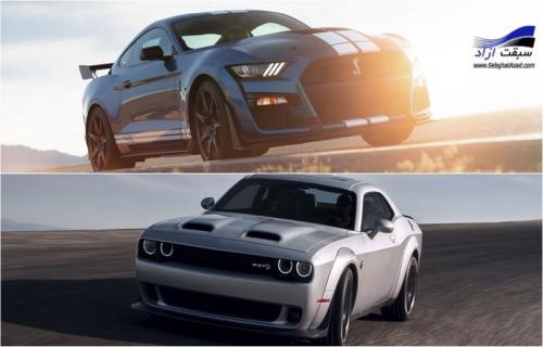 مقایسه فورد ماستنگ شلبی GT500 مدل 2020 و دوج چلنجر SRT Redeye مدل 2019