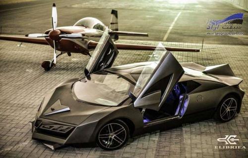 کانسپت الیبریا خودرویی با اقتباس از هواپیمای جنگنده