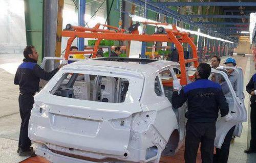 اولین خودروی هنتنگ X7 روی خط مونتاژ رفت
