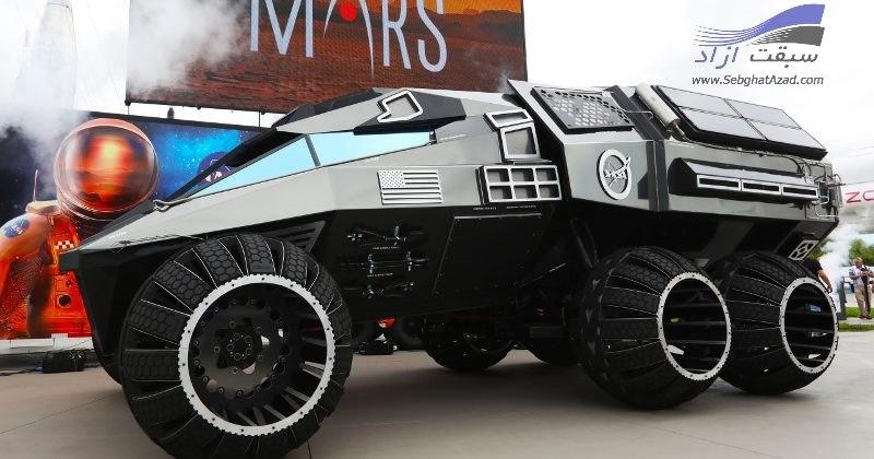 حرکت مریخ نورد بزرگ ناسا در خیابان