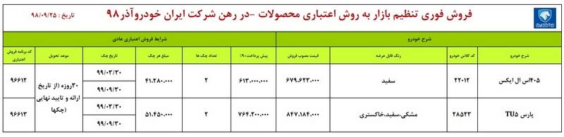 اعلام طرح جدید فروش اقساطی ایران خودرو 25 آذر 98