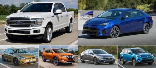 مروری بر پرفروشترین خودروهای سال ۲۰۱۸