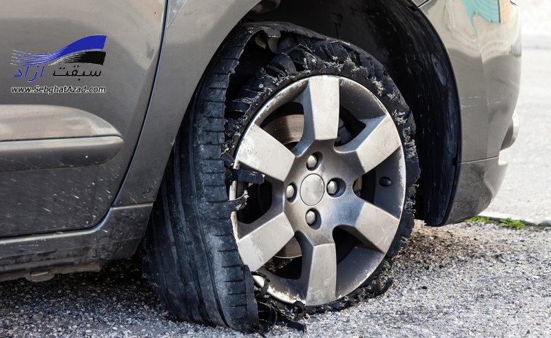 علت ترکیدن تایر حین رانندگی