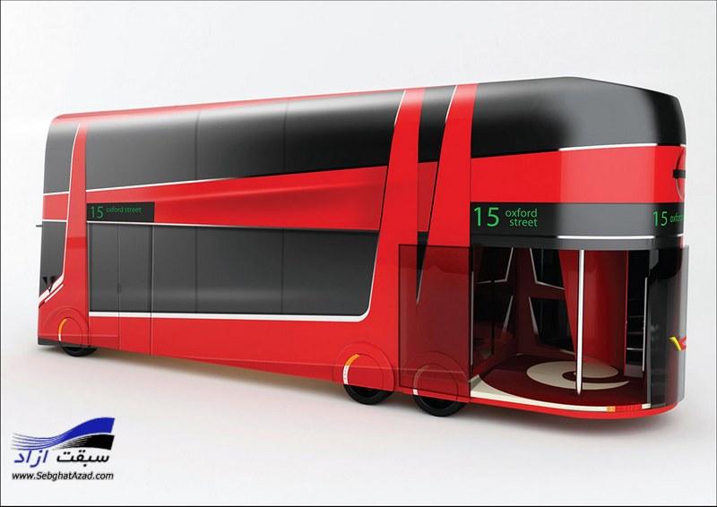 اتوبوس آینده شهر لندن برای کاهش آلودگی محیط زیست