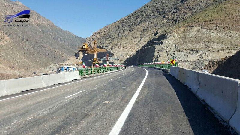 آزادراه تهران شمال ساخته شد