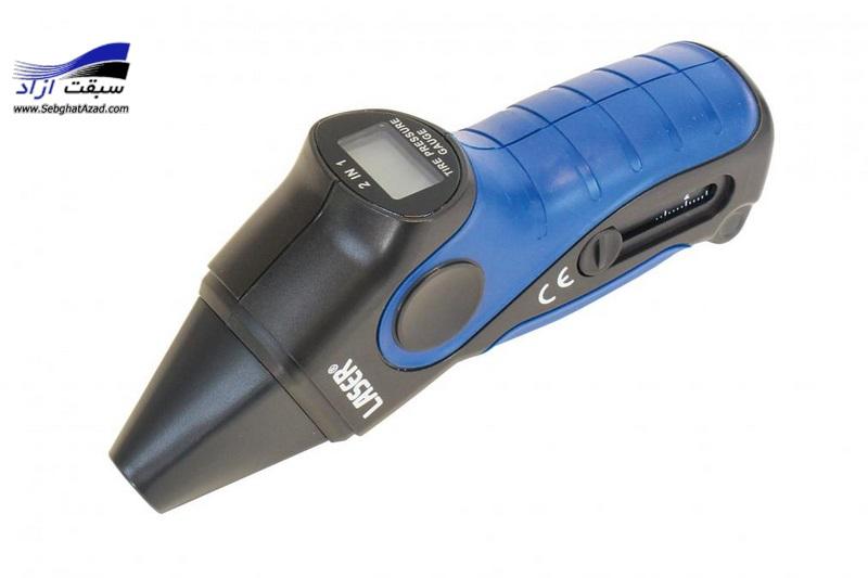 گیج فشار باد و اندازه آج لاستیک Laser 4886