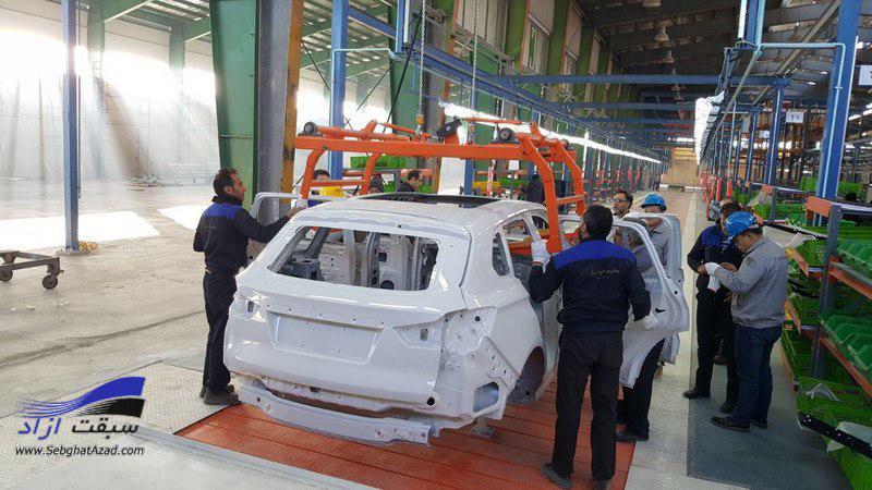 اولین خودروی هتنتگ X7 روی خط مونتاژ قرار گرفت