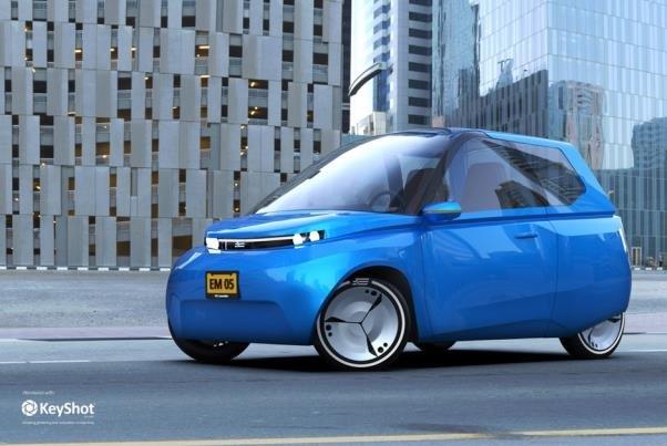 خودروی الکتریکی با قابلیت بازیافت طراحی شد